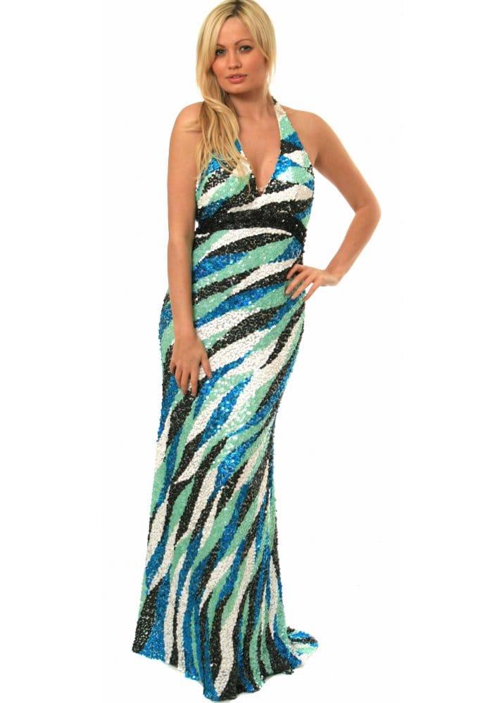 Sacala evening dress scala dress p7016 scala designer for Waterfall design dress