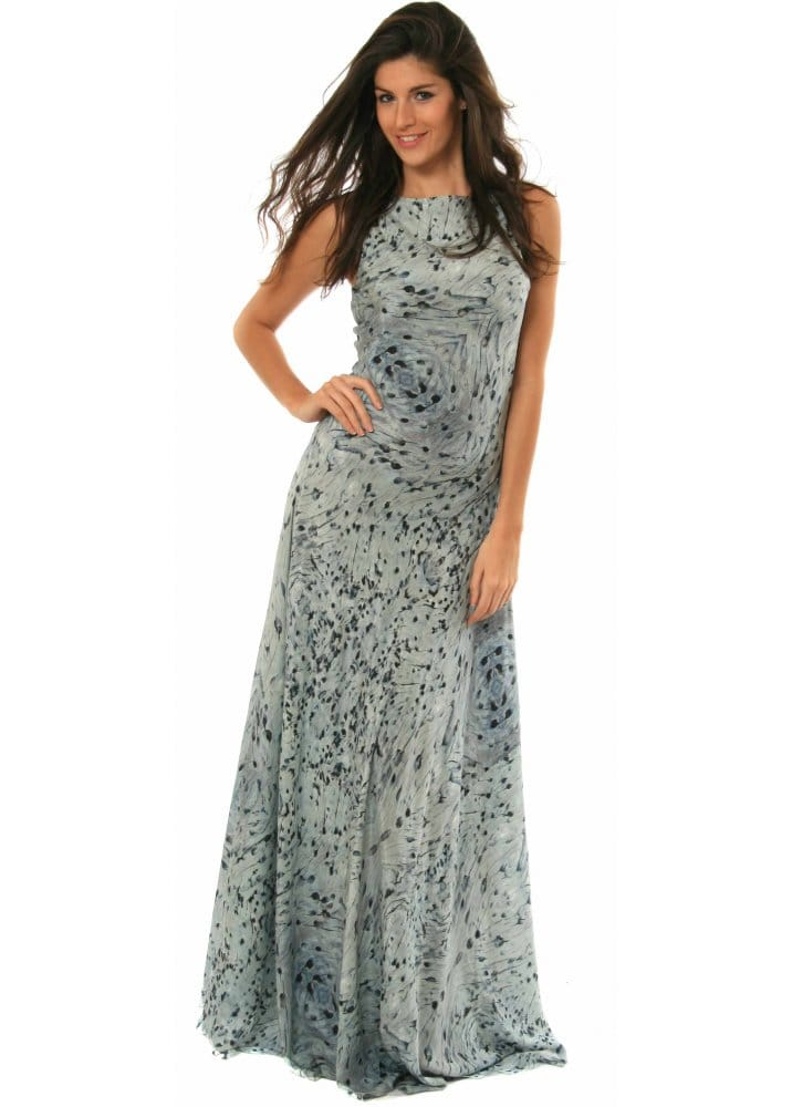 Gestuz printed silk maxi dress