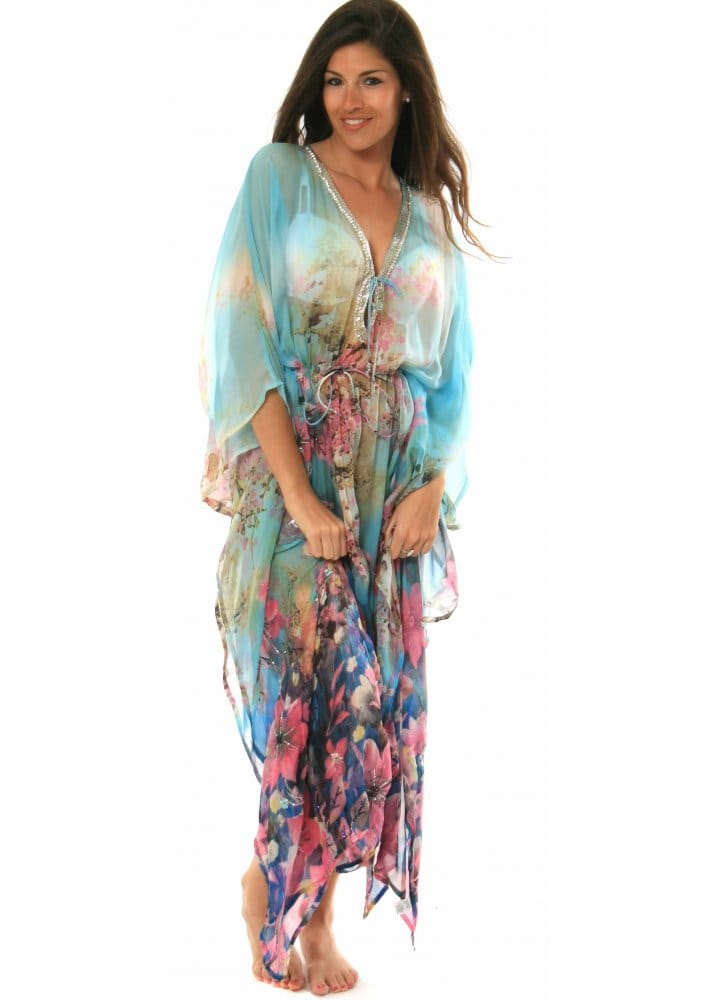 Kaftans. Choose from our extensive range of Kaftans. We have Mens, Ladies and Womens Kaftans available in Plain, Floral, Patterned, Tie Dye, Velvet and Cotton as well as being available in a wide selection of colours.