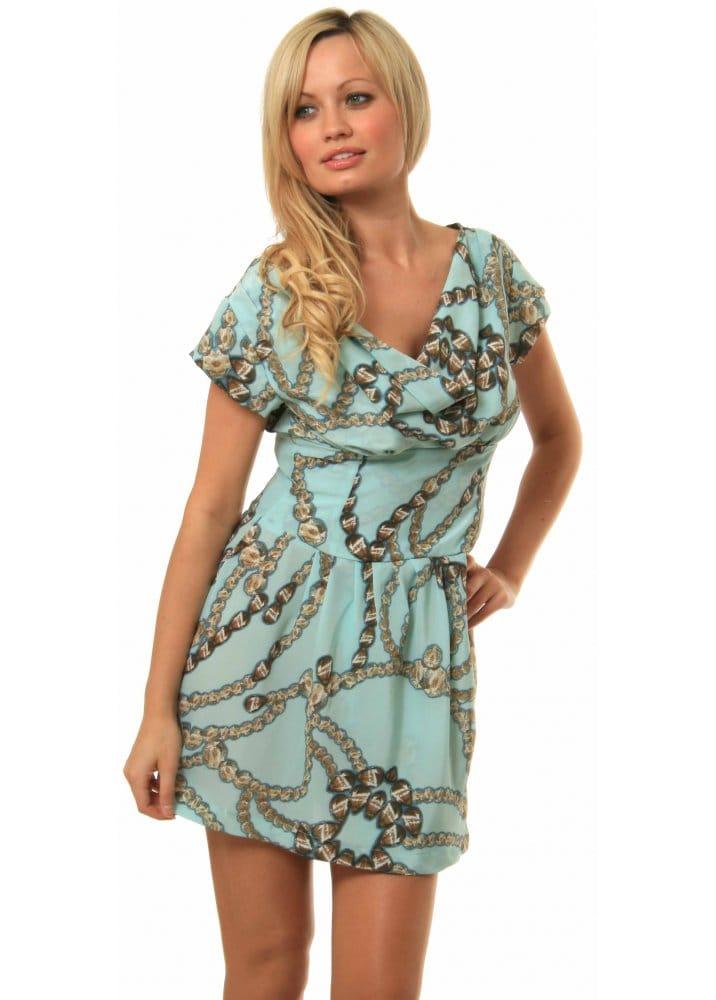 Liquorish Dresses Liquorish Jewel Print Dress