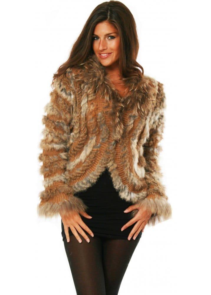 Designer Natural Fur Jacket Designer Fur Knitted