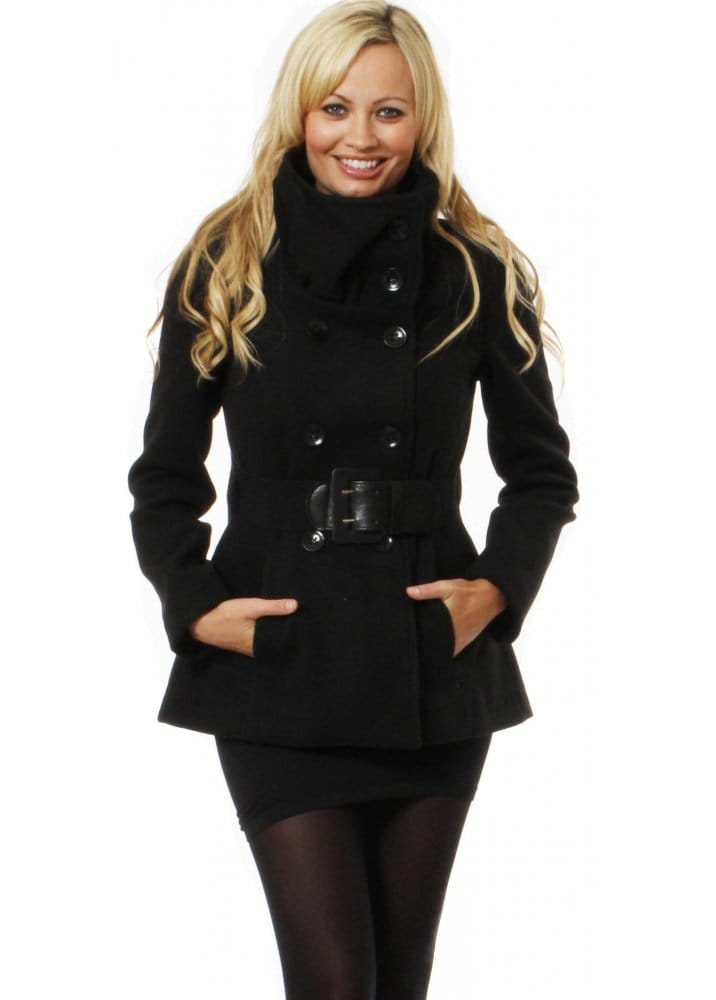 Rinascimento Black Jacket | Rinascimento Short Black Coat | Buy ...