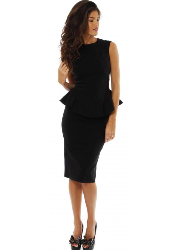 black peplum dress on So Couture Black Belgravia Dress   So Couture Black Peplum Dress   So