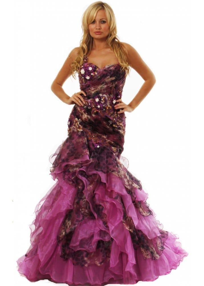 Koo ture designer ball gown koo ture designer evening for Waterfall design dress