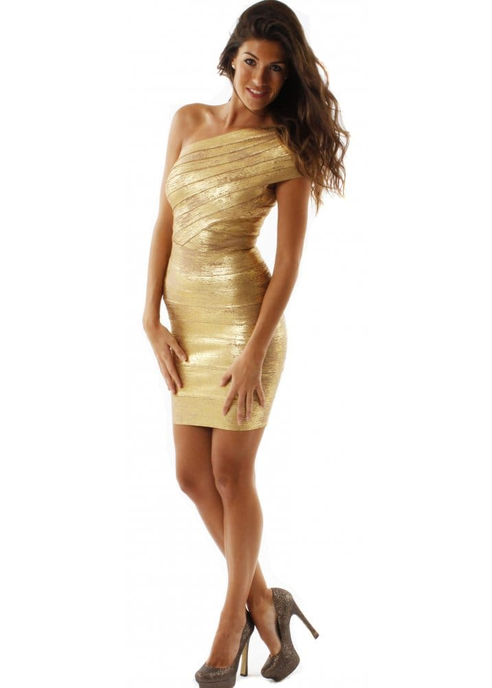 Luxe Couture Gold Aphrodite Dress Luxe Couture Party