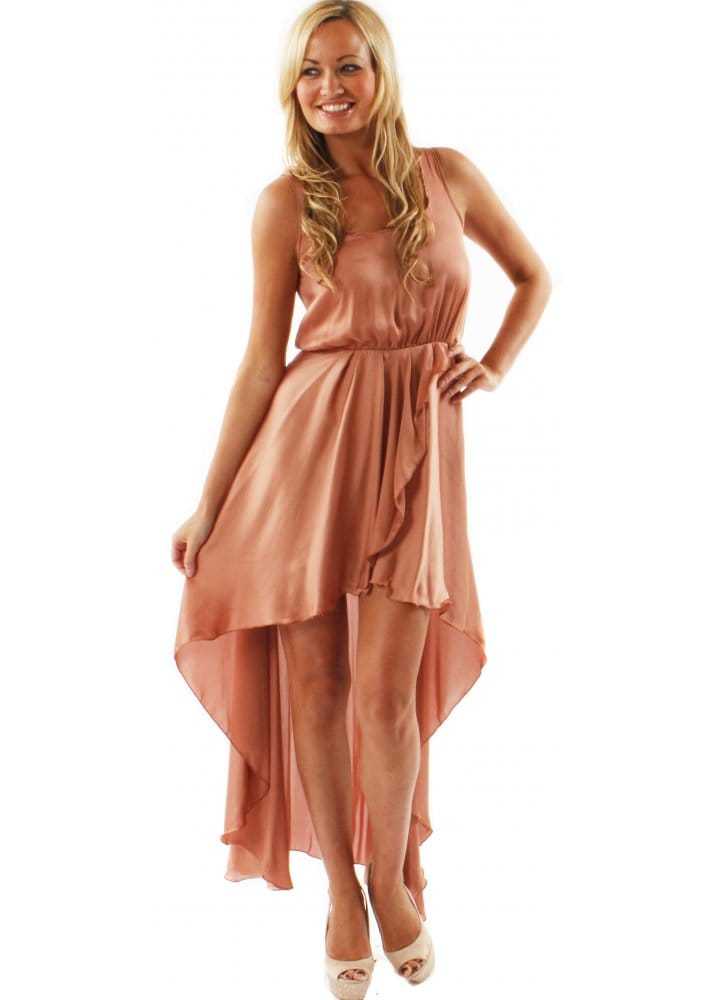 LOVE Peach Asymmetric Maxi Dress - Love Label Asymmetric Maxi ...