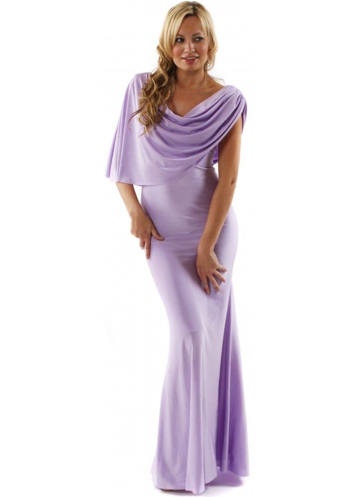 Goddiva Lilac Evening Dress | Designer Lilac Evening Dress