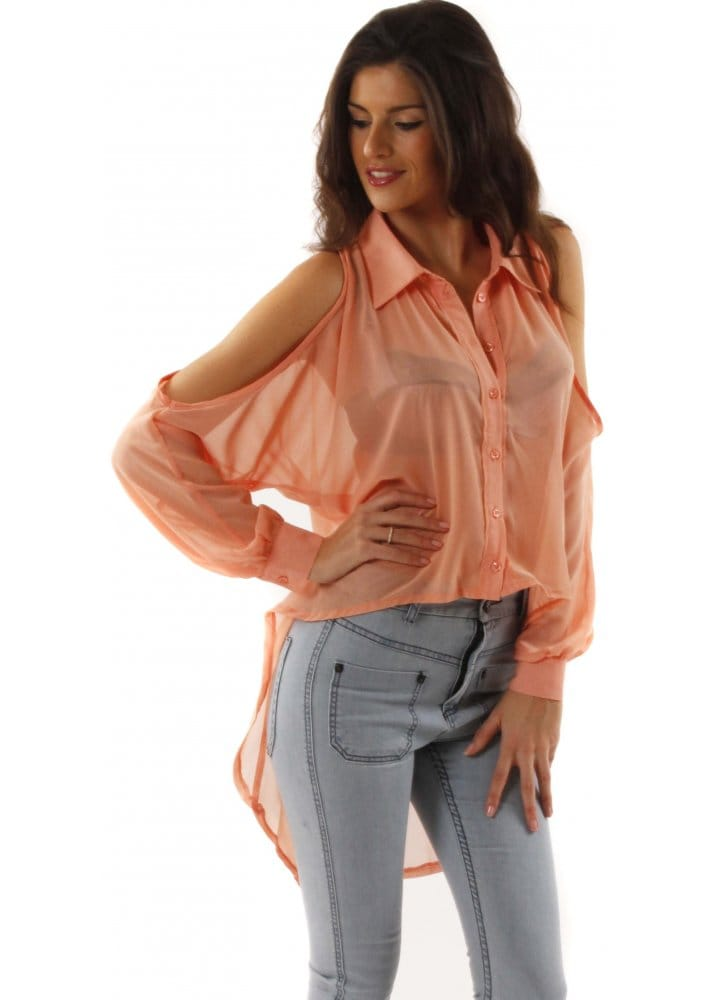 Coral Blouses And Tops