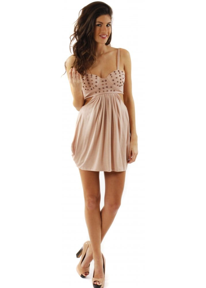 House of dereon dress house of dereon studded bustier for Couture house dresses