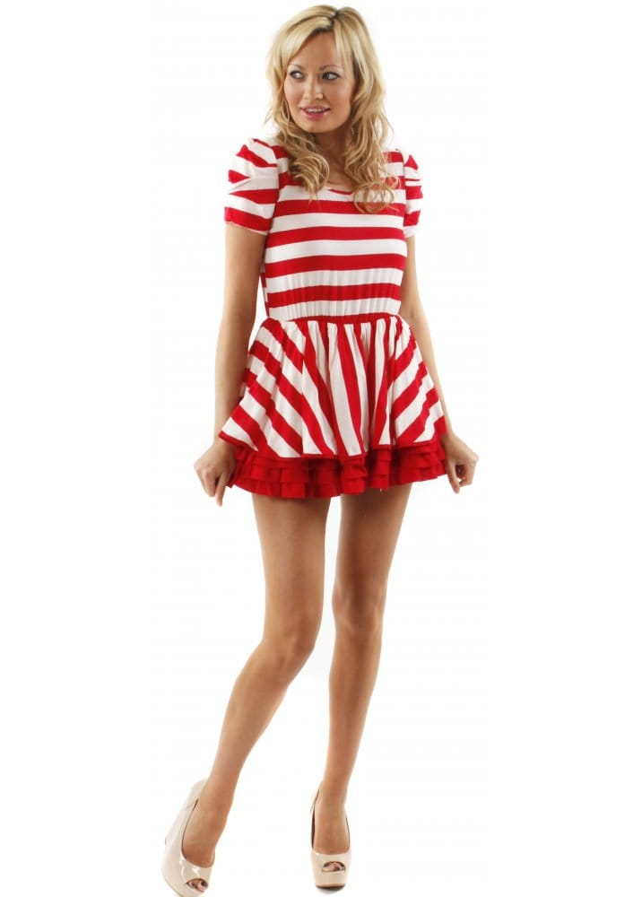 Yükle (716x1000)Traffic People Betty Boo Dress Buy Traffic People Dresses    Designer DesirablesDress Betty Boo Red   White Striped Frilled Mini Dress. 4ecd9aab3
