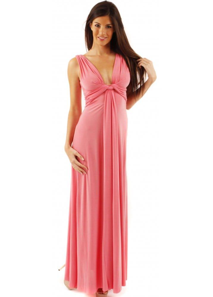 Grecian princess maxi column dress