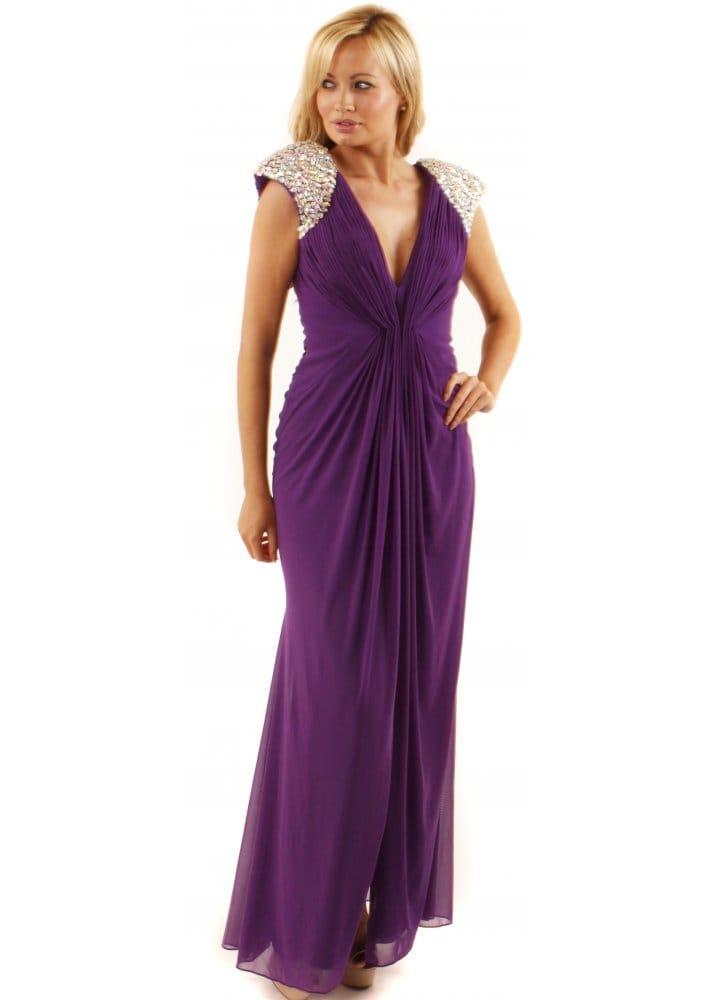 Forever Unique Purple Lowri Dress   Forever Unique Evening Dress ...