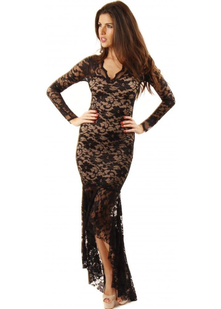 Jessica Wright Dresses Jessica Nude Amp Black Lace Maxi