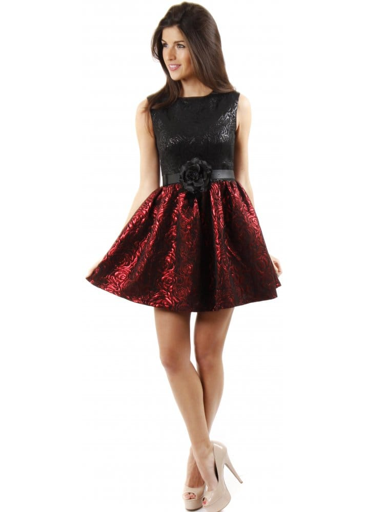 Red Rose Party Dress Red Prom Dress Cheap Party Dresses