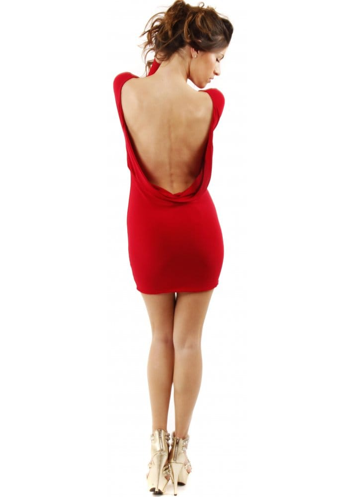 Red Open Back Bodycon Dress Next Image Red Open Back