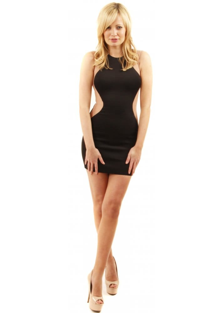 Optical Illusion Dress Black Body Con Dress Shop Party