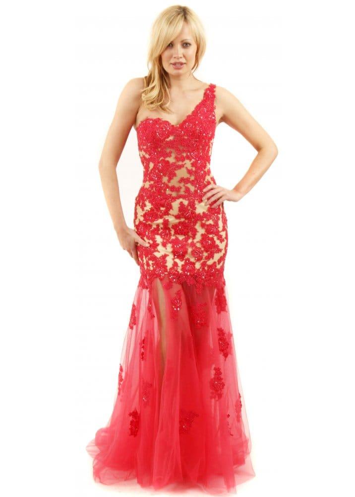 Forever unique felicity dress coral evening dress for Unique one
