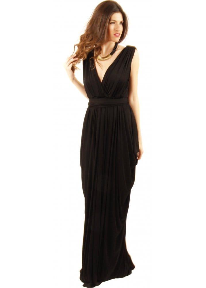 Long black grecian dresses
