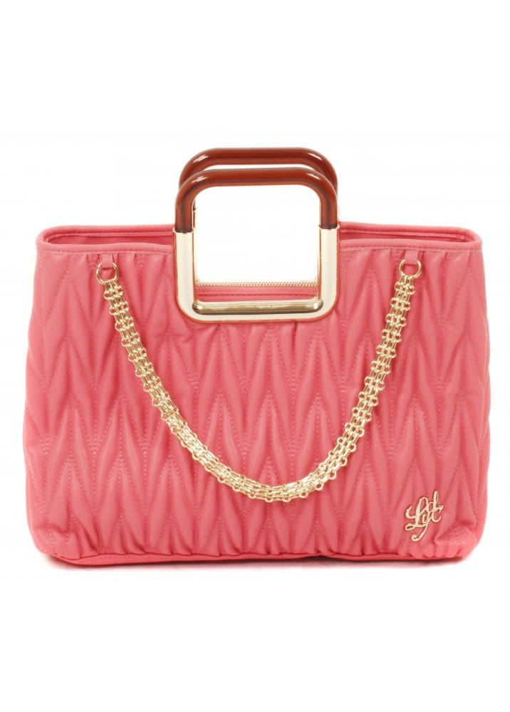 Lydc London Bag Coral Pink Quilted Leather Bag Pink