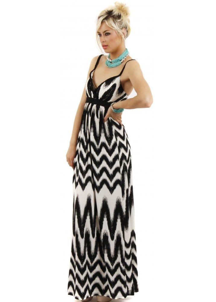 Stella Morgan Maxi - Black &amp- White Maxi Dress - Maxi Dresses