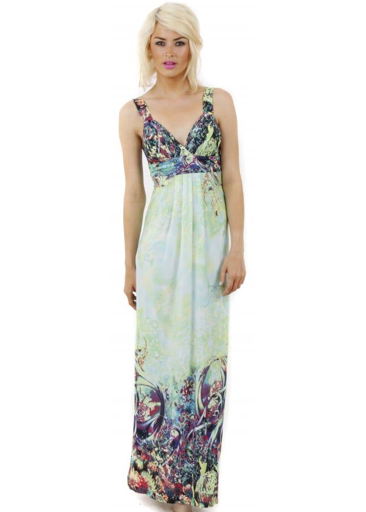 Stella Morgan - Green Fantasy Print Maxi Dress