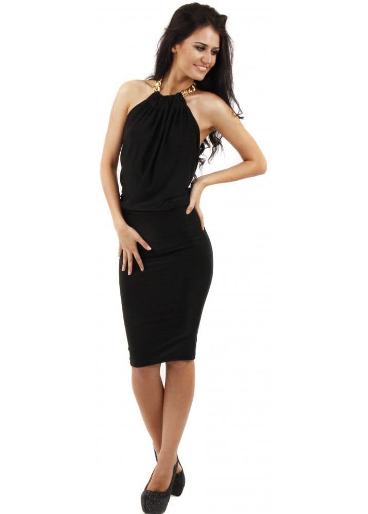 Honor Gold Honor Gold Chloe Dress Black Backless Midi