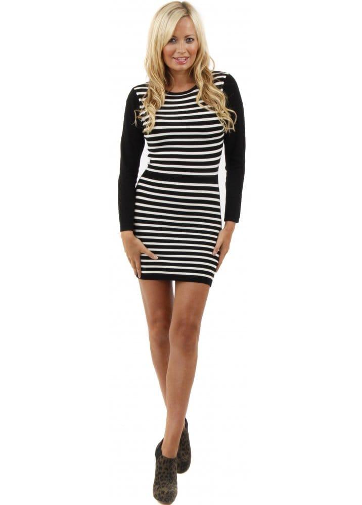 Stella Morgan Jumper Dress Knitted Mini Dress Black