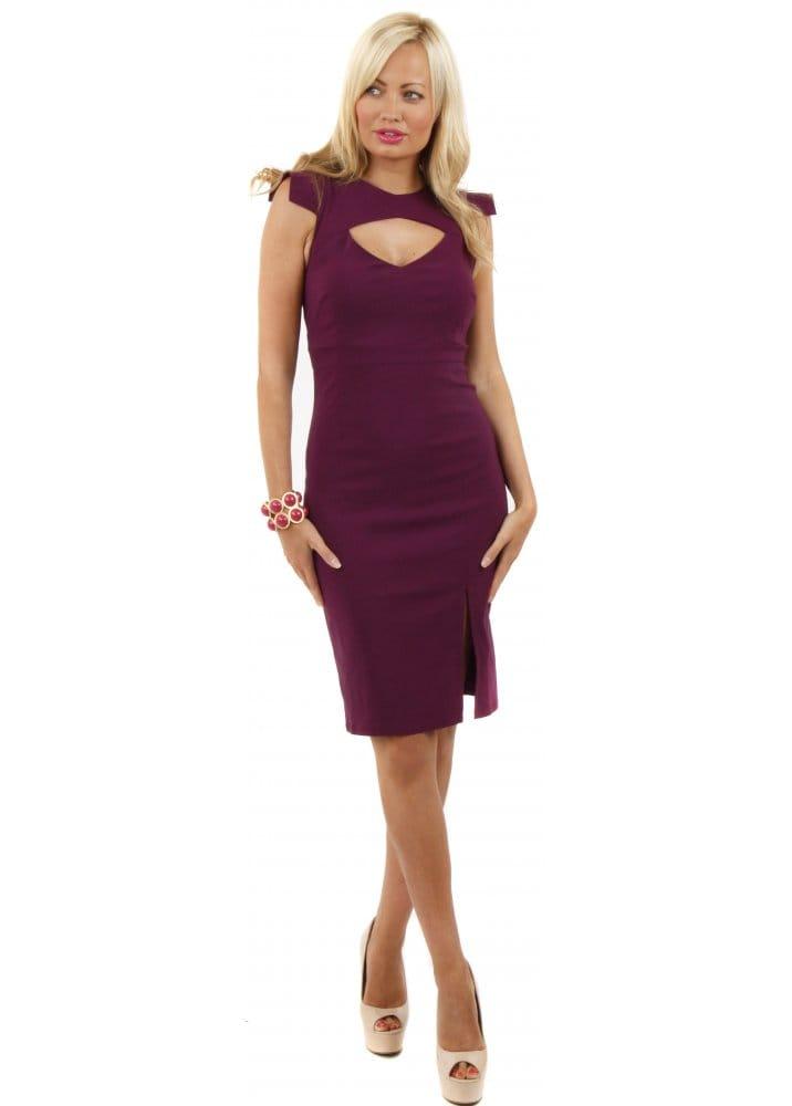 Vesper Dress Vesper Holly Dress Burgundy Pencil Dress