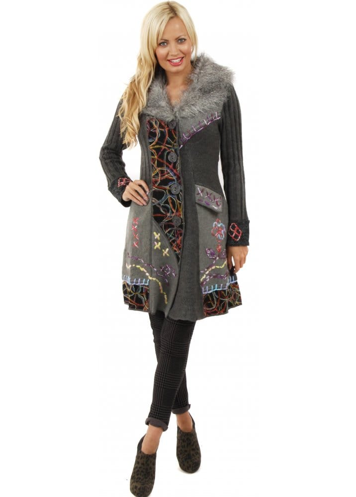 Stella Morgan Cardigan Knitted Cardigan Coat Faux