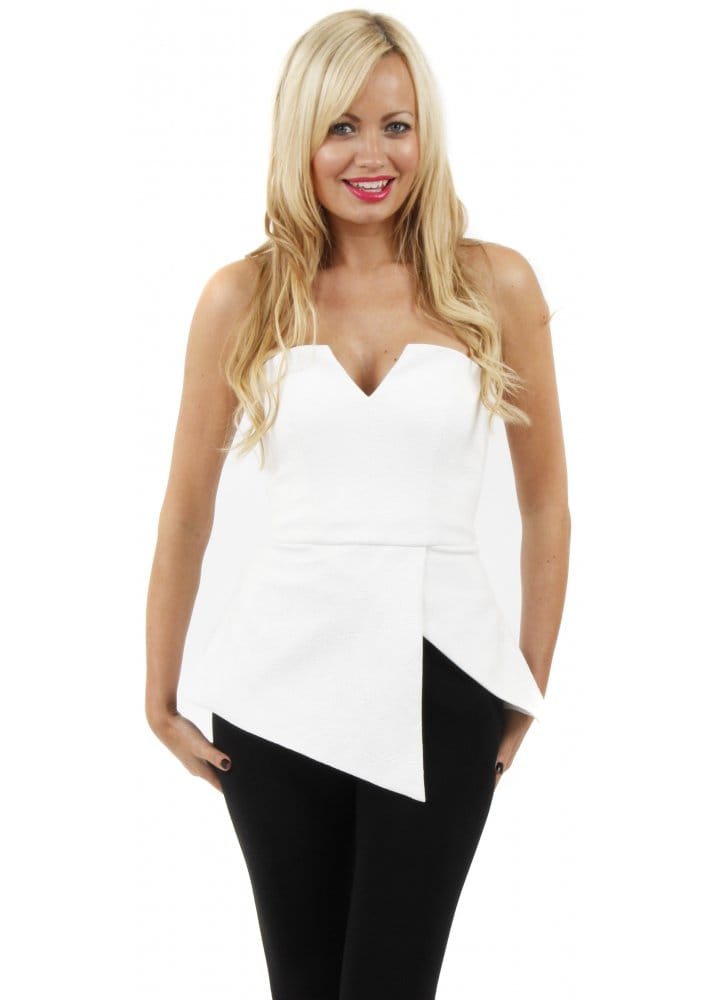 Finders Keepers Jump Then Fall Bustier White Bustier Top