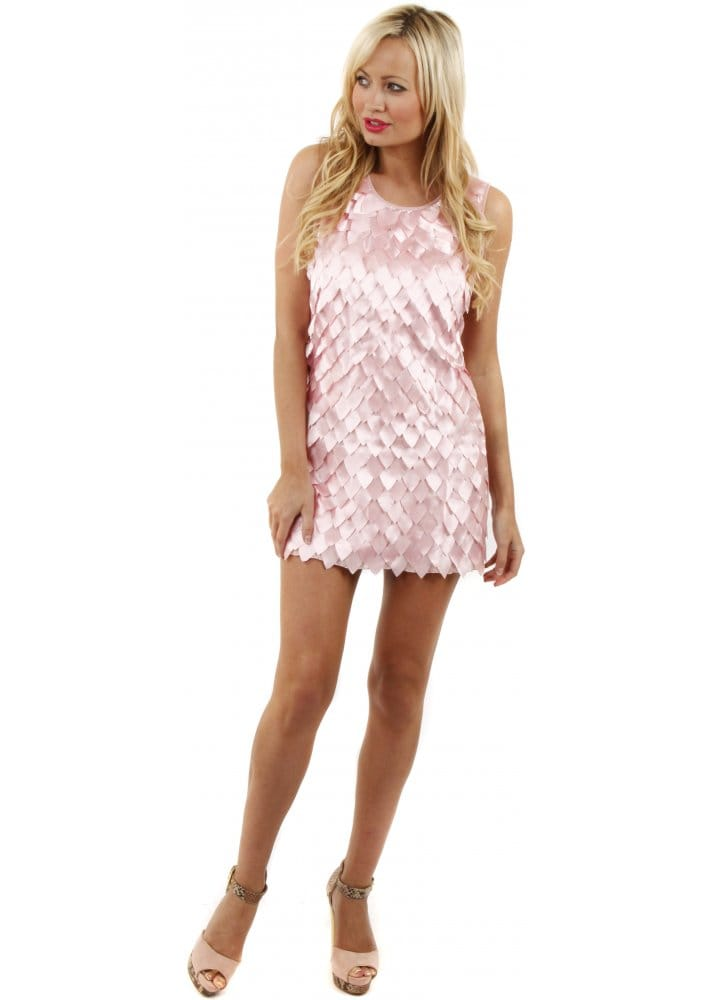 pink mini dress pink petals party dress pretty mini dress
