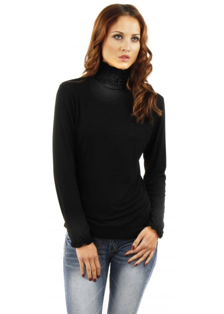 ASOS DESIGN ASOS DESIGN polo neck long sleeve top in black Shop ASOS DESIGN polo neck long sleeve top in black at ASOS. Discover fashion online.