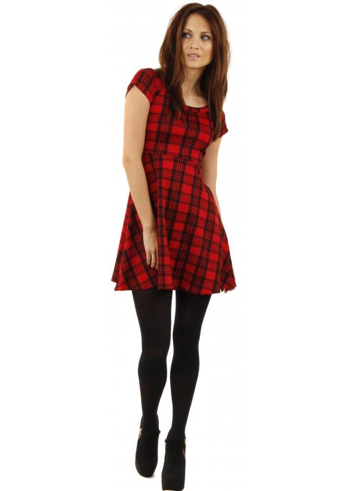 Tartan Mini Dress Red Tartan Dress Tartan Dresses