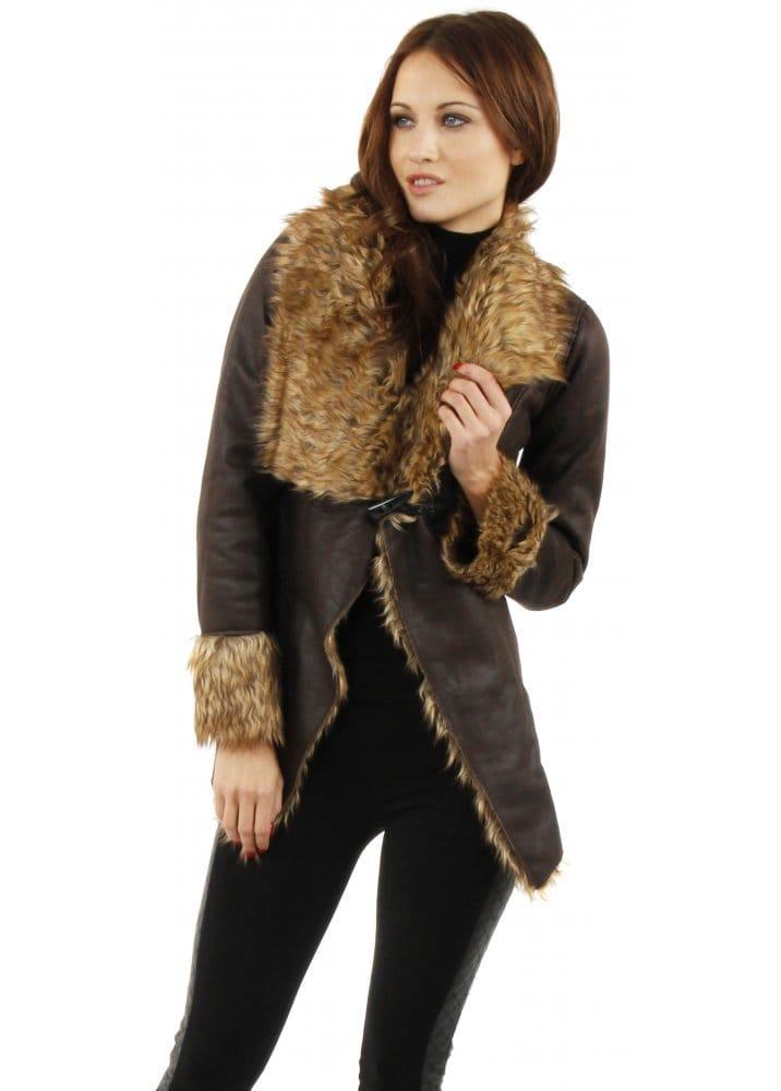 Faux Fur Jacket Faux Shearling Jacket Aviator Jacket
