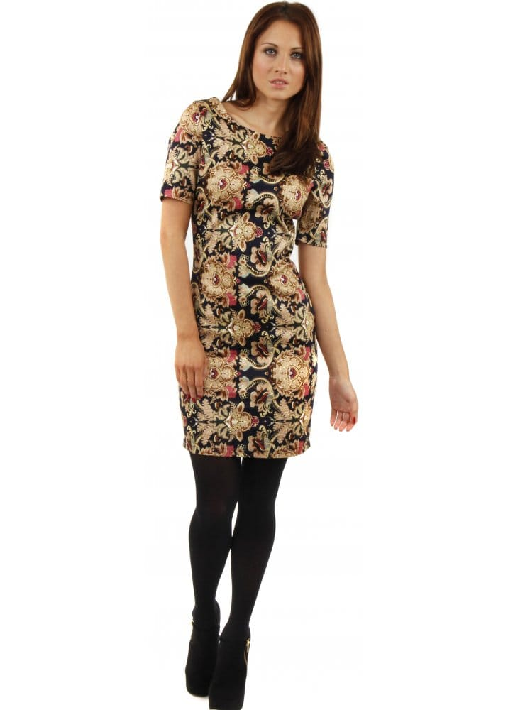 Ad Lib Dress | Coral One Shoulder Chiffon Dress Perfect