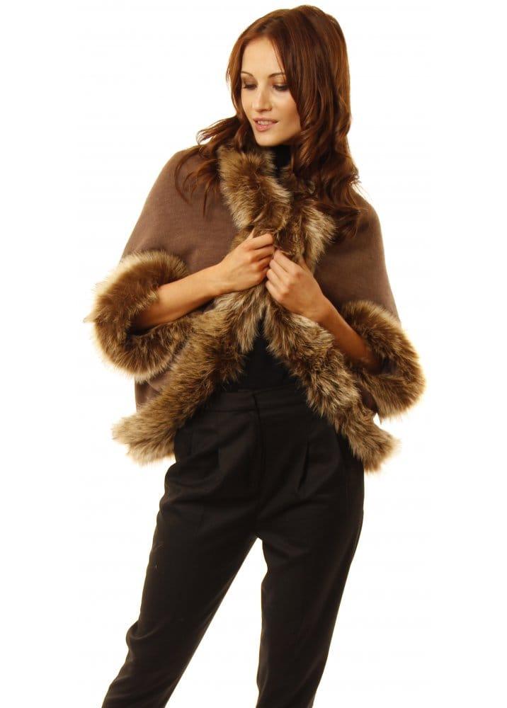 Taupe faux fur bolero taupe bolero faux fur bolero for Designer bolero
