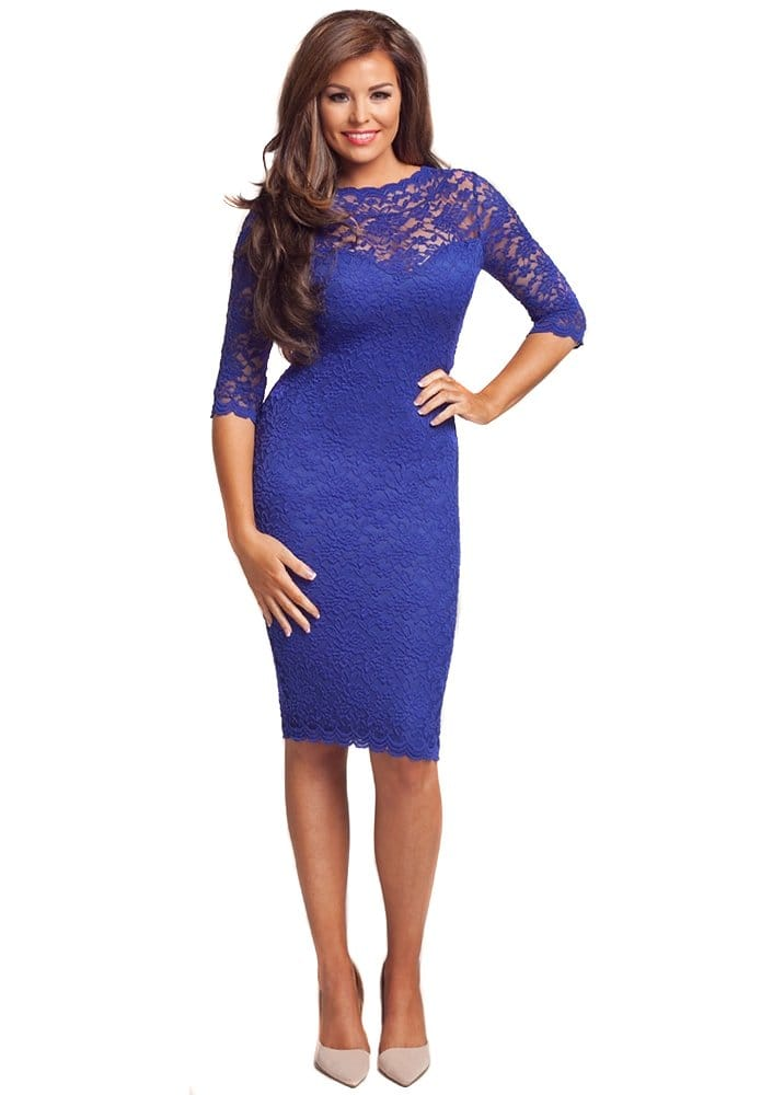 Jessica Wright Emily Dress | Jessica Wright Cobalt Blue Lace Dress ...