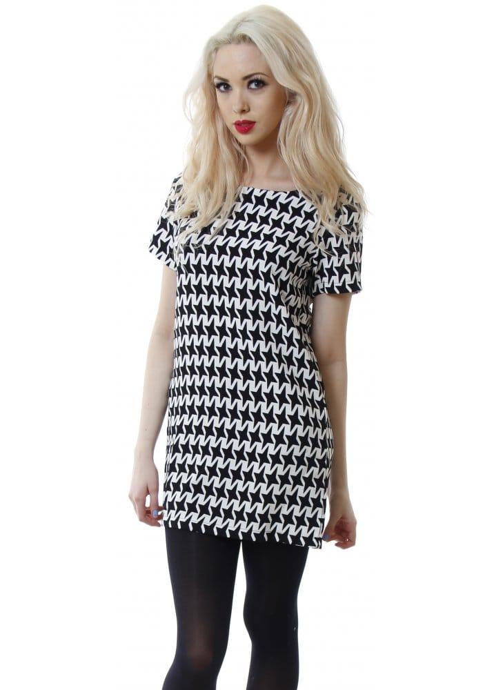 Vera Amp Lucy Dress Black Amp White Mini Dress Nice Day Dress