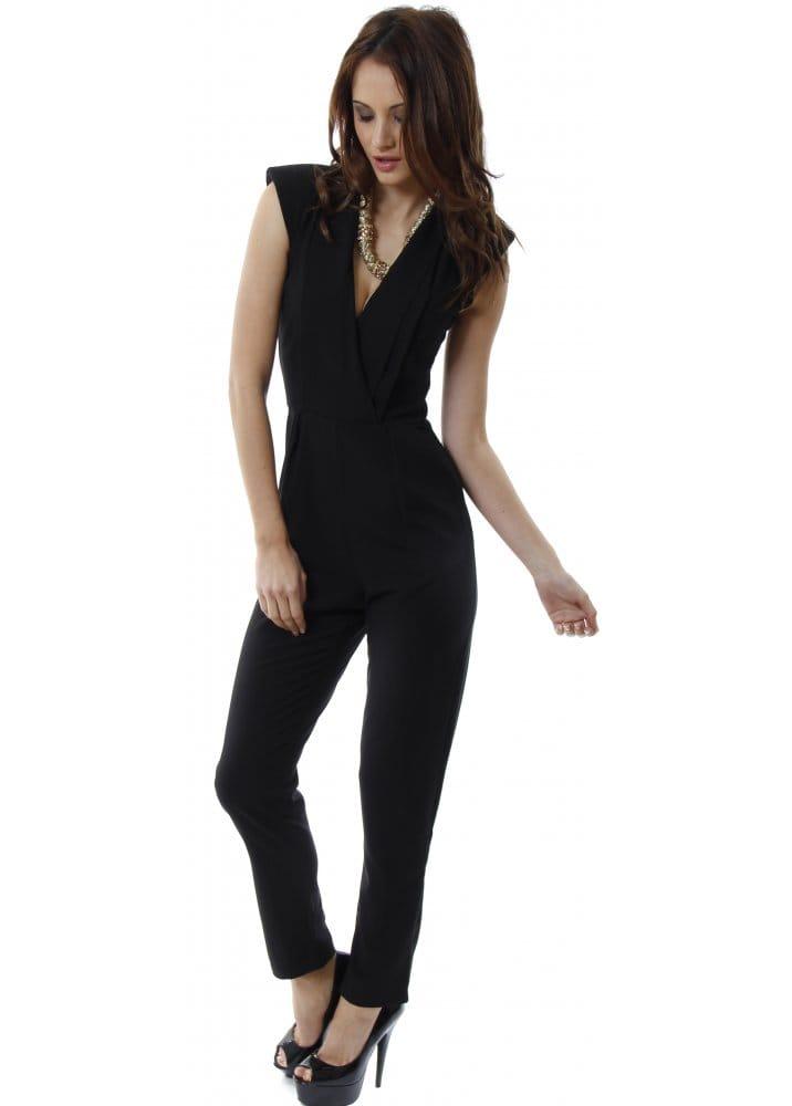 Black Jumpsuit | Black Smart Tailored Jumpsuit | Song Rain Jumpsuit