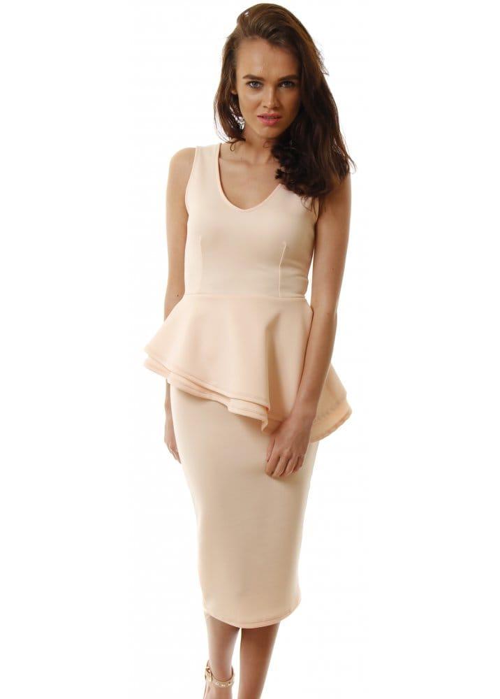 Short Sleeve Peplum White Dress - Just $6