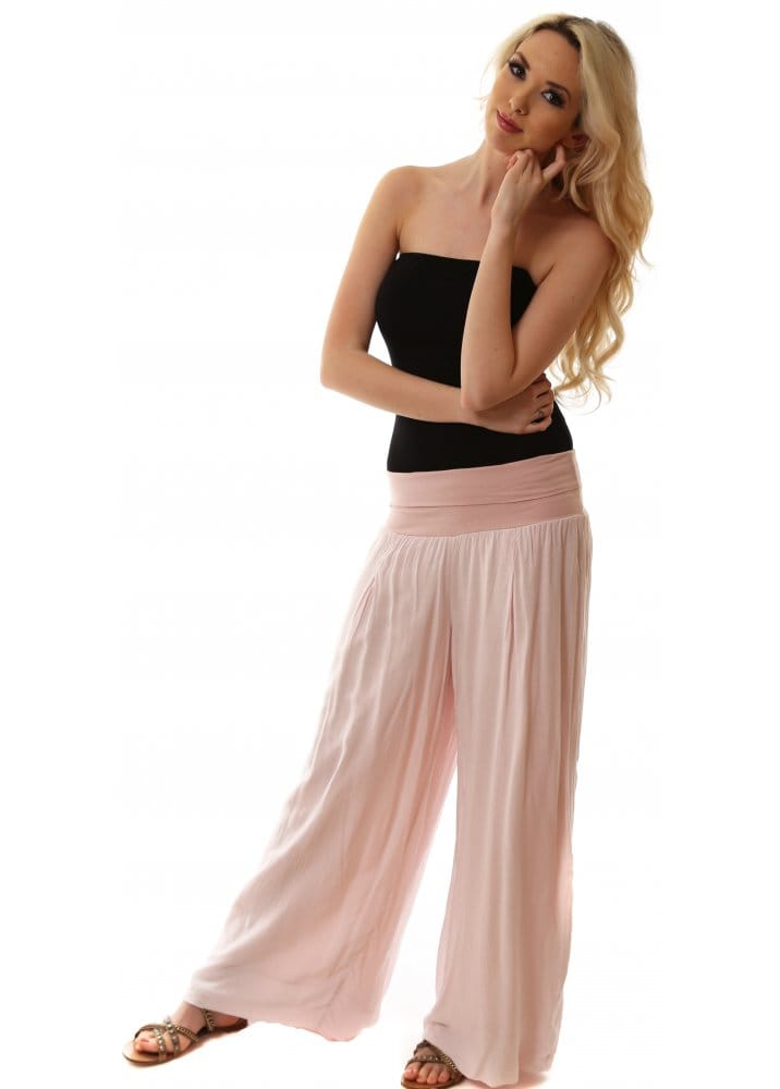 Sugar Babe Trousers Wide Leg Relaxed Palazzo Pants For