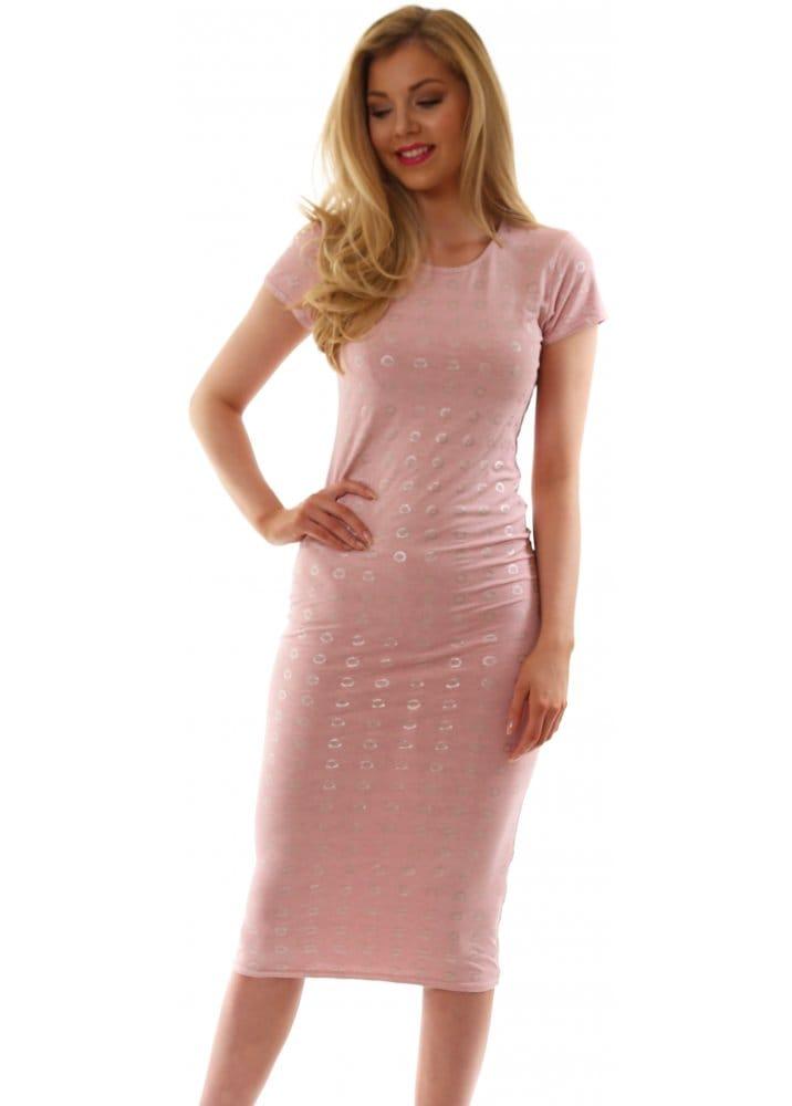 Pink dress stock photos