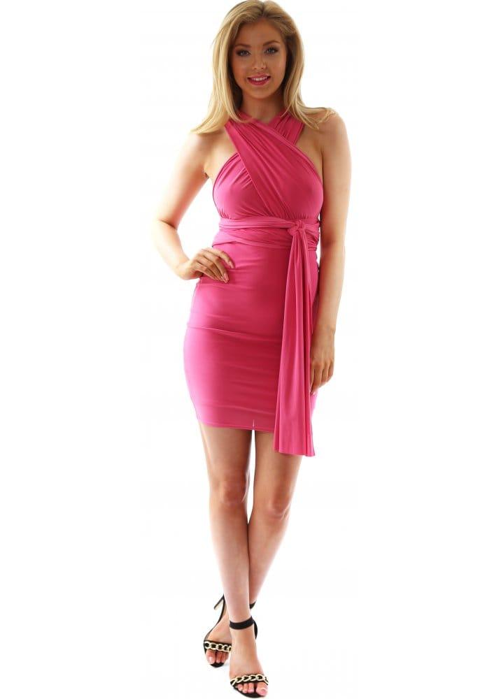 Red & Royal Dress | Multi Wear Dress