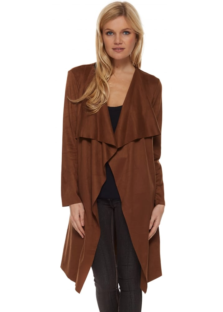 l'Olve Verte Brown Coat | Chocolate Long Jacket | Brown Long Jacket