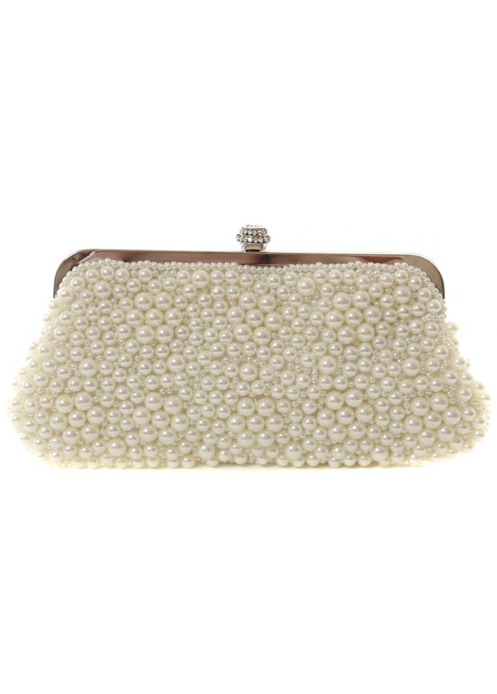 Pearl Clutch Bag Pretty Ivory White Pearl Evening Bag