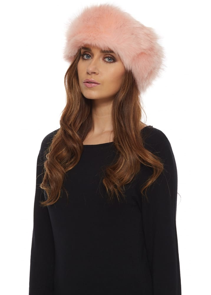 Baby Pink Faux Fur Headband Thick Fluffy Headband