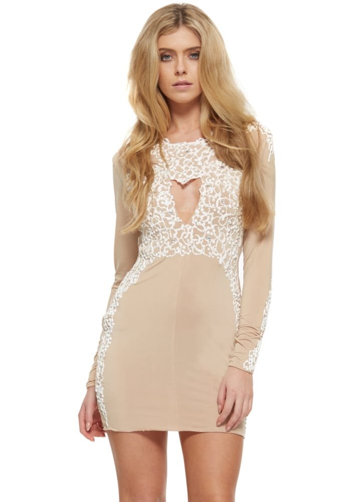 Holt amber dress in nude buy holt dresses designer for Holt couture dresses