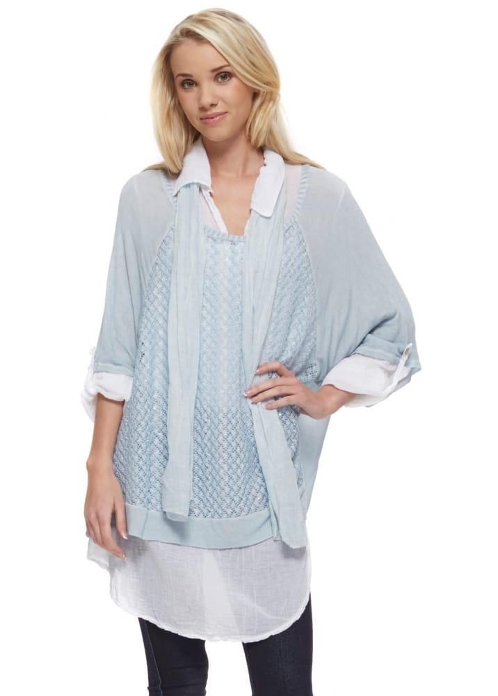 Shyloh Shirt Amp Jumper Set Baby Blue Shirt Scarf Amp Top Set