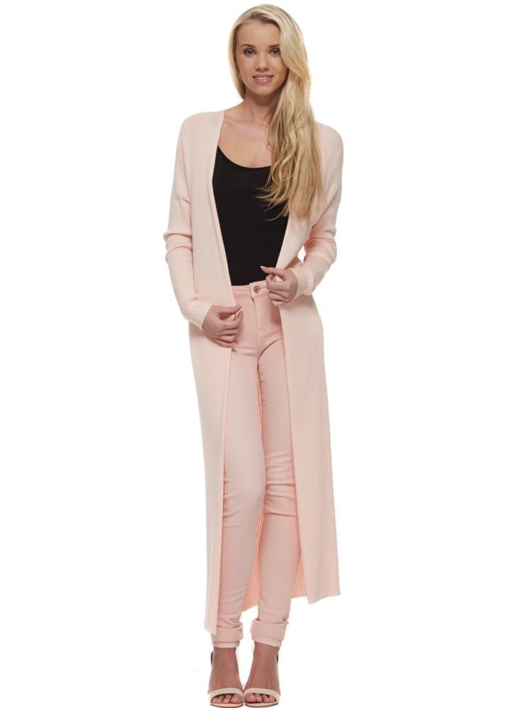 Laetitia Mem Pink Cardigan | Long Pink Skinny Cardigan | Long Cardigan