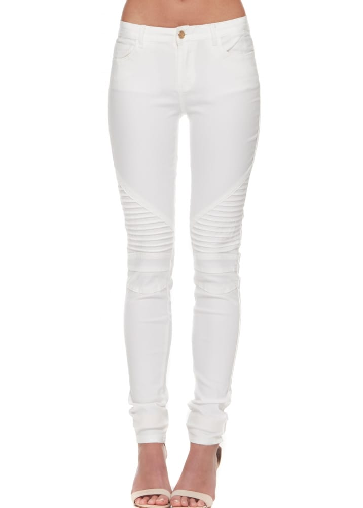 Crazy Lover White Stretch Fit Ladies Jeans | White Low Rise Skinny ...